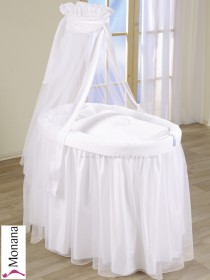 Leipold wicker drape crib full length in Dreamland Schleife (Color: white) <b>Ready for delivery