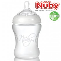 Nuby Natural Touch Silikonflasche Step 1<br>210 ml<br><b>Bisphenol A frei</b>