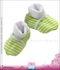 Sucre d´orge baby shoes green