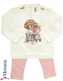 Mayoral child fashion set Sweatshirt & leggings Fleißiges Lieschen