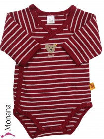 Steiff Collection Langarm-Wickel-Body Ringel rot<br>Größe: 50, 62, 68