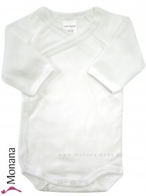 Schiesser long sleeve wrap body white