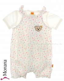Steiff Collection Baby-Spieler & Kurzarmbody Sweet Heart<br>Größe: 68, 74, 80