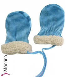 Maximo Baby-Fausthandschuhe blau<br>Größe: 3 Monate, 6 Monate
