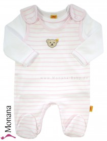 Steiff Collection Baby-Strampler & Baby-Shirt  Summer Colors rosa<br>Größe: 50, 62, 68