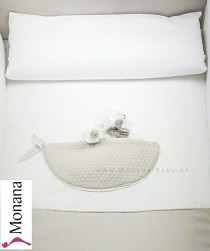 Dilibest by Picci bed linen for cot bed Mod. 12 Mousse cream <b>Ready for delivery
