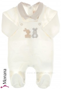 Mayoral baby pyjama cream