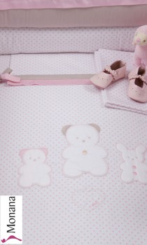 Picci bed linen for cot bed Mod. 12 Coco pink