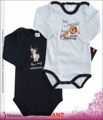 Kanz Doppelpack Baby-Langarm-Body for my mummy<br>Größe: 68