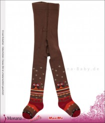Maximo tights braun-orange owl