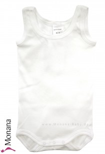 Schiesser body without sleeves white
