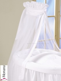 Leipold fabric veil for wicker crib in Dreamland