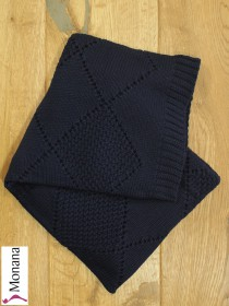 Leipold knitted baby blanket navy Dimensions: ca. 80 x 100 cm <b>Ready for delivery