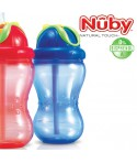 Nuby Soft-Flip-It-Trinkhalmflasche Blau<br><b>Bisphenol A frei</b><br>355ml