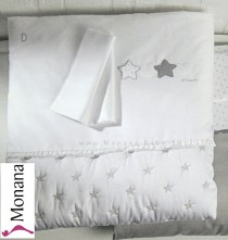Dilibest by Picci bed linen for crib Matisse greige Dimensions: 31,5 x 31,5 inch (ca. 80 x 80 cm) <b>Ready for delivery