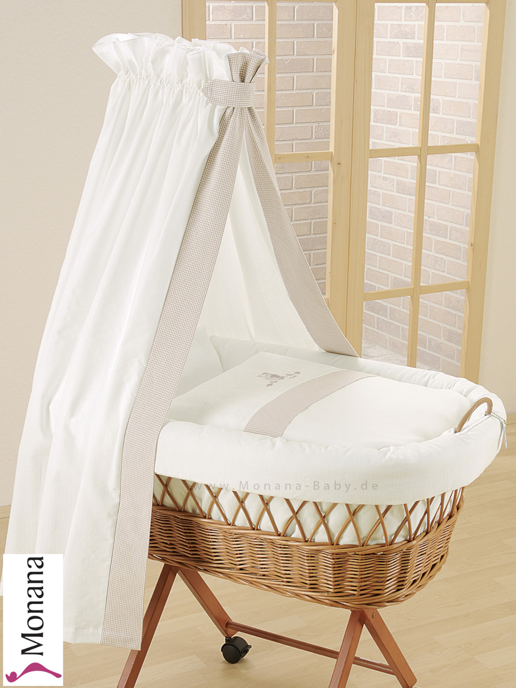 Leipold Draping For Wicker Crib With Veil In Amadeus