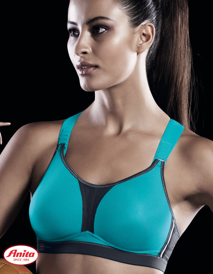Anita Sport-BH 5537 dynamiX star<br>Maximum Support<br>Farbe: Peacock/ Anthrazit<br>Cup: A, B, C, D, E, F, G