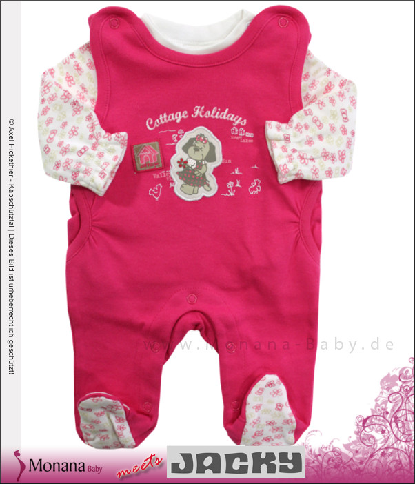 reputable site 28f38 64b79 Jacky Baby-Strampler & Baby-Shirt pink Cottage Holiday<br ...