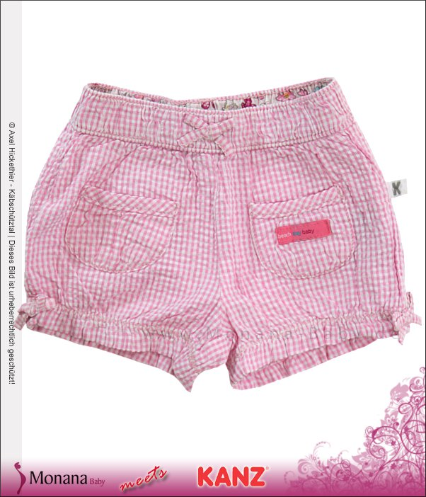 Kanz Shorts Beach Day rosa<br>Größe: 74