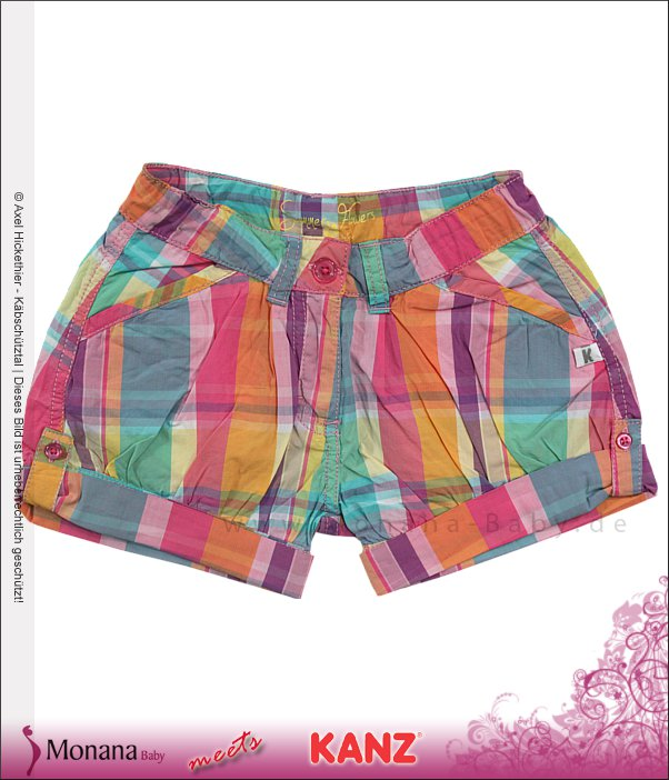 Kanz Karo-Shorts Summer Flowers<br>Größe: 110