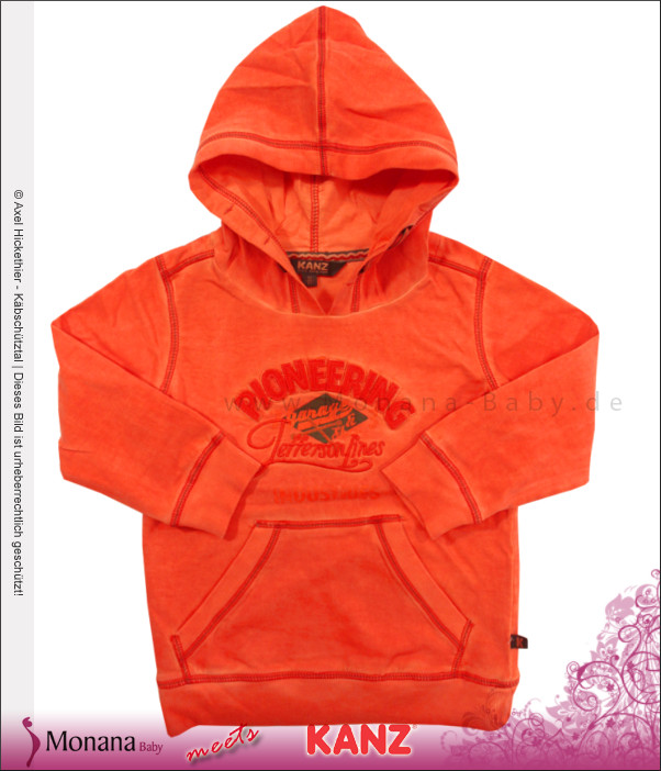 Kanz Sweat-Shirt Gas Station mandarine<br>Größe: 98, 104, 116, 128