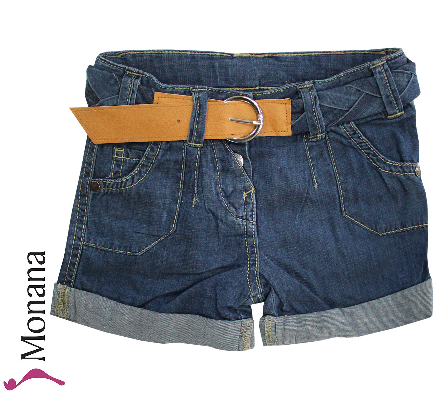 Kanz Jeans-Shorts Indigo goes Red<br>Größe: 98, 110, 116, 128, 134, 140, 146, 152