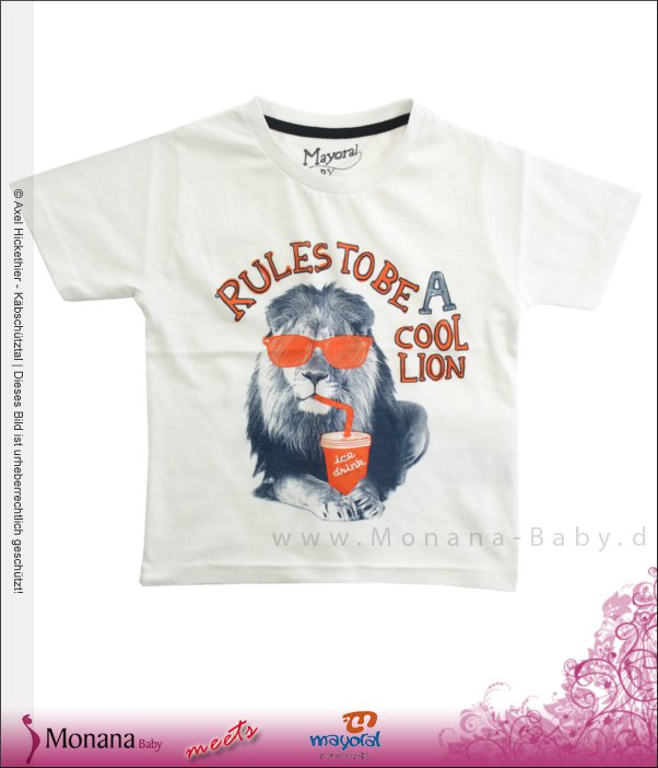 Mayoral T-Shirt Rules to be a cool lion<br>Größe: 98