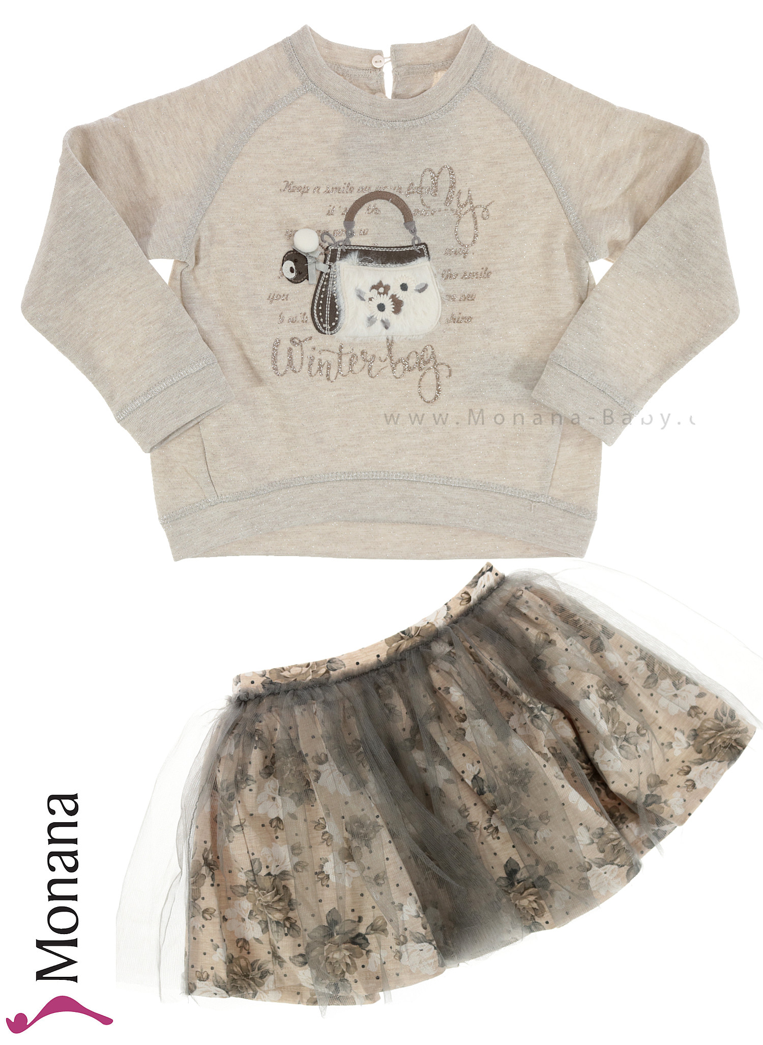 Mayoral Kindermode-Set Swear-Shirt & Tüllrock<br>Größe: 98, 110, 128, 134