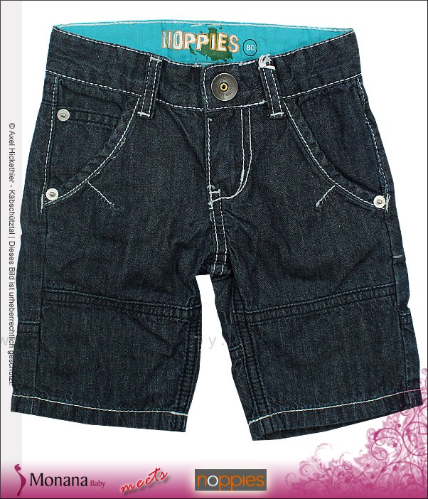 Noppies Jeans-Short Boy Sunglasses used wash<br>Größe: 80, 86
