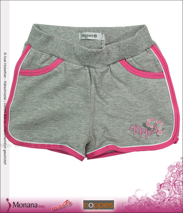 Noppies Short Girl Cocktail grey<br>Größe: 80, 92, 98, 104