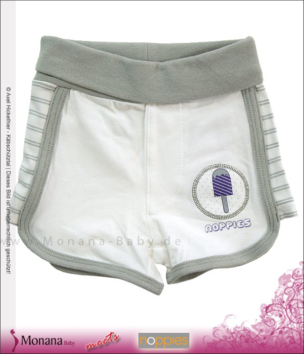 Noppies Shorts Reegan white print<br>Größe: 68