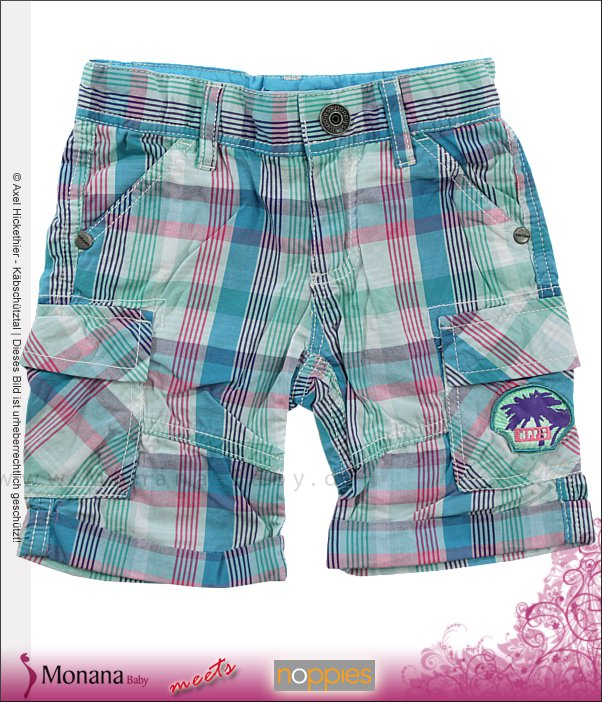 Noppies Shorts Raleigh aqua print<br>Größe: 92