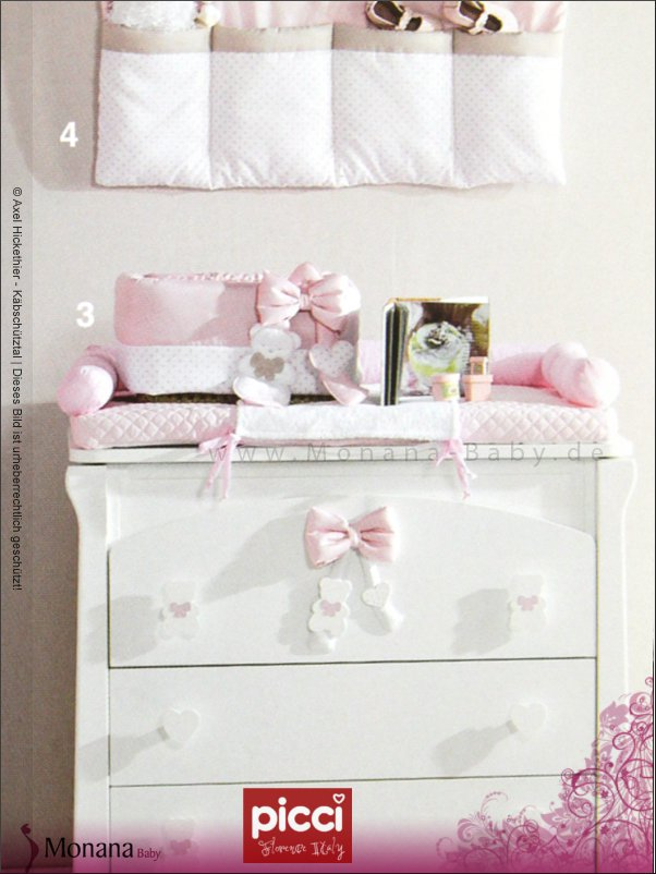 picci wickelauflage coco rosa ma e ca 50 x 80 cm. Black Bedroom Furniture Sets. Home Design Ideas