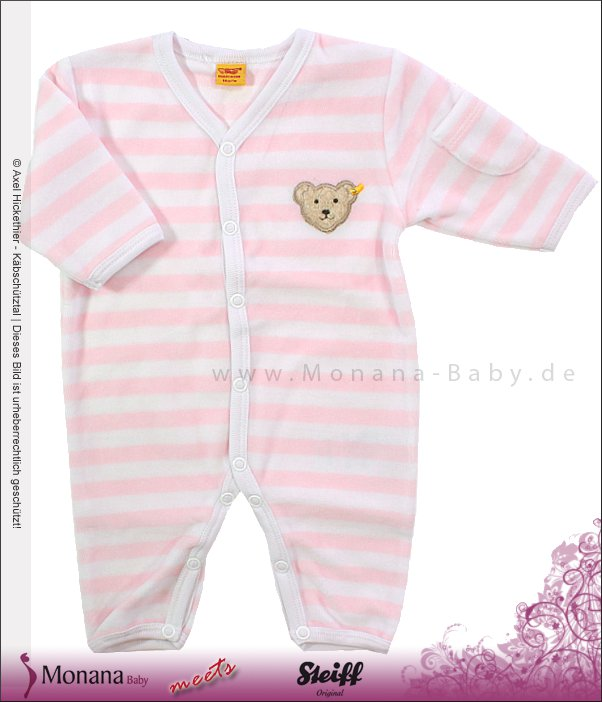 Steiff Collection Nicki-Strampler rosa<br>Größe: 56