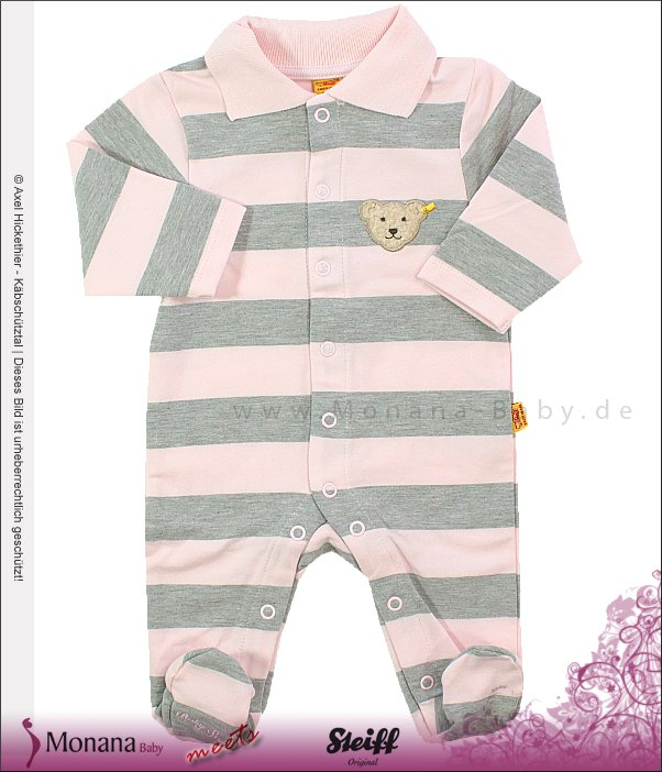 Steiff Collection Polo-Strampler rosa<br>Größe: 80