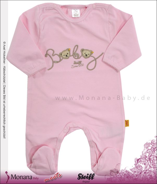 Steiff Collection Overall rosa<br>Größe: 74
