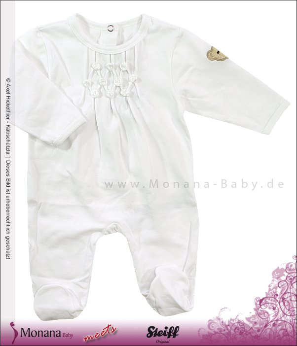 Steiff Collection Baby-Strampler weiß Little Friends<br>Größe: 56
