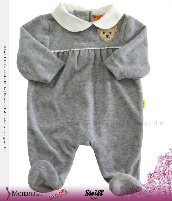 Steiff Collection Nicki-Overall Powder Rose grau<br>Größe: 68