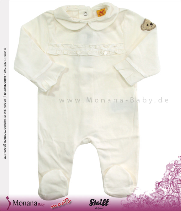 Steiff Collection Baby-Strampler creme<br>Größe: 56