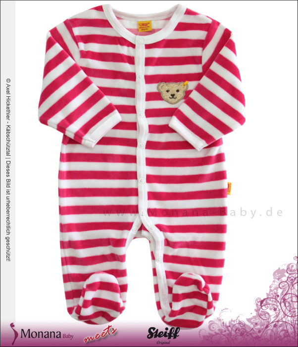 Steiff Collection Nicki-Strampler pink<br>Größe: 74