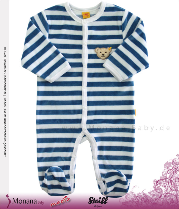 Steiff Collection Nicki-Strampler blau<br>Größe: 80