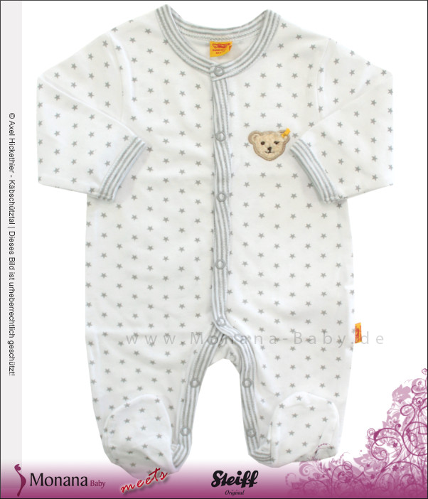 Steiff Collection Baby-Strampler Little Star grau<br>Größe: 68