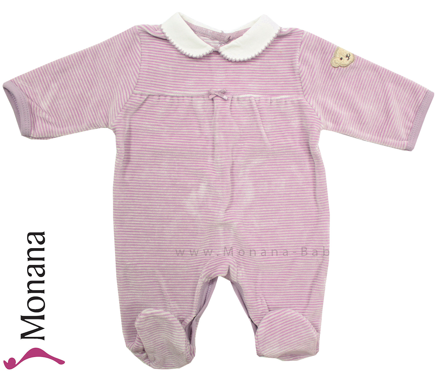 Steiff Collection Nicki-Baby-Overall Autumn Poem lila<br>Größe: 62