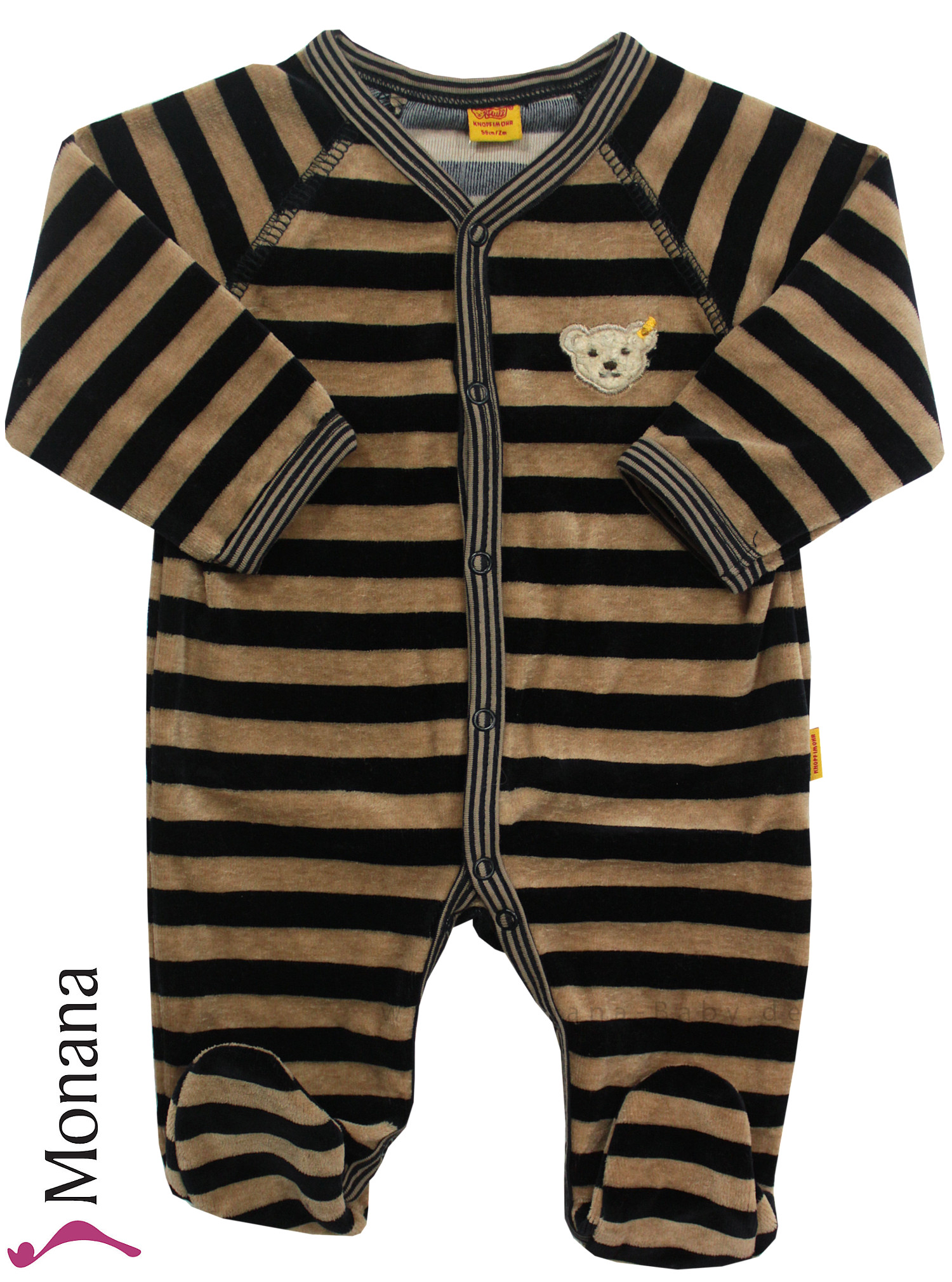 Steiff Collection Nicki-Baby-Overall Ringel Little Finn<br>Größe: 74