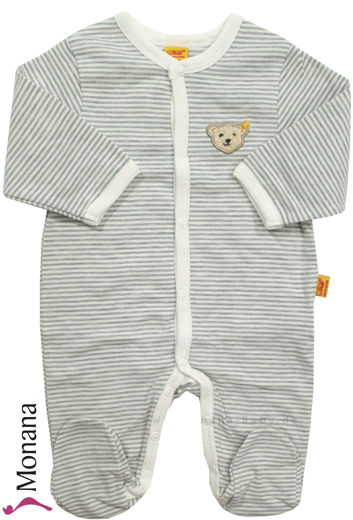 Steiff Collection Baby-Overall grau<br>Größe: 50