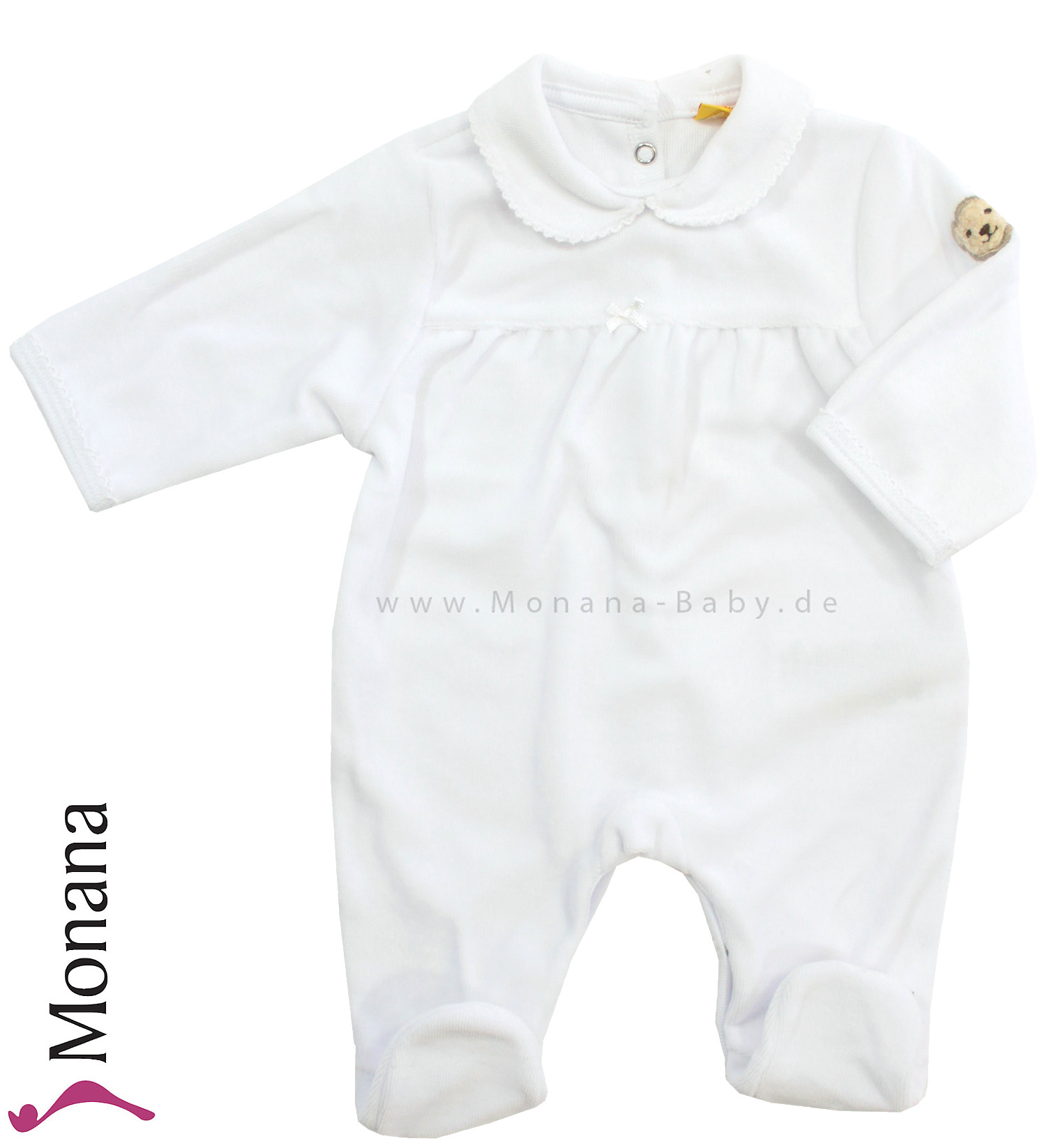 Steiff Collection Nicki-Overall weiß Special Day<br>Größe: 62