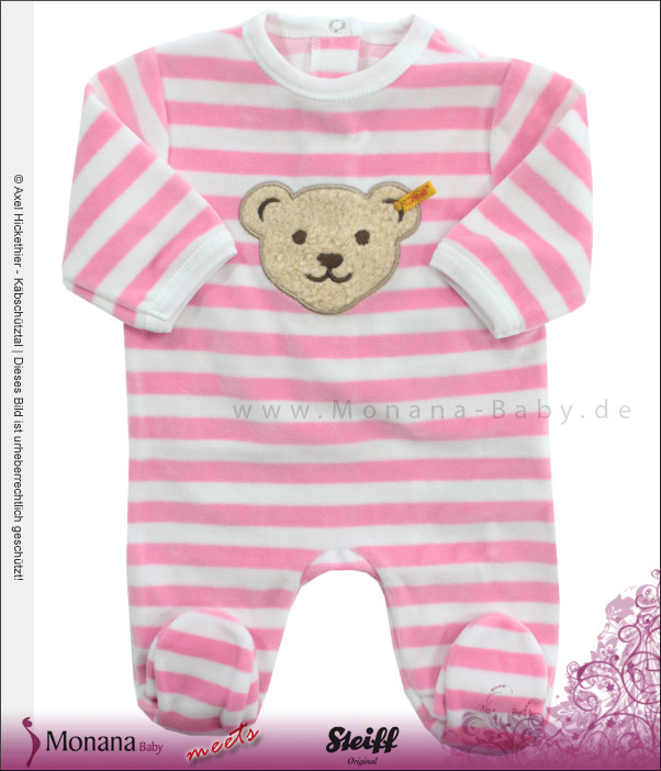 Steiff Collection Nicki-Overall pink<br>Größe: 50