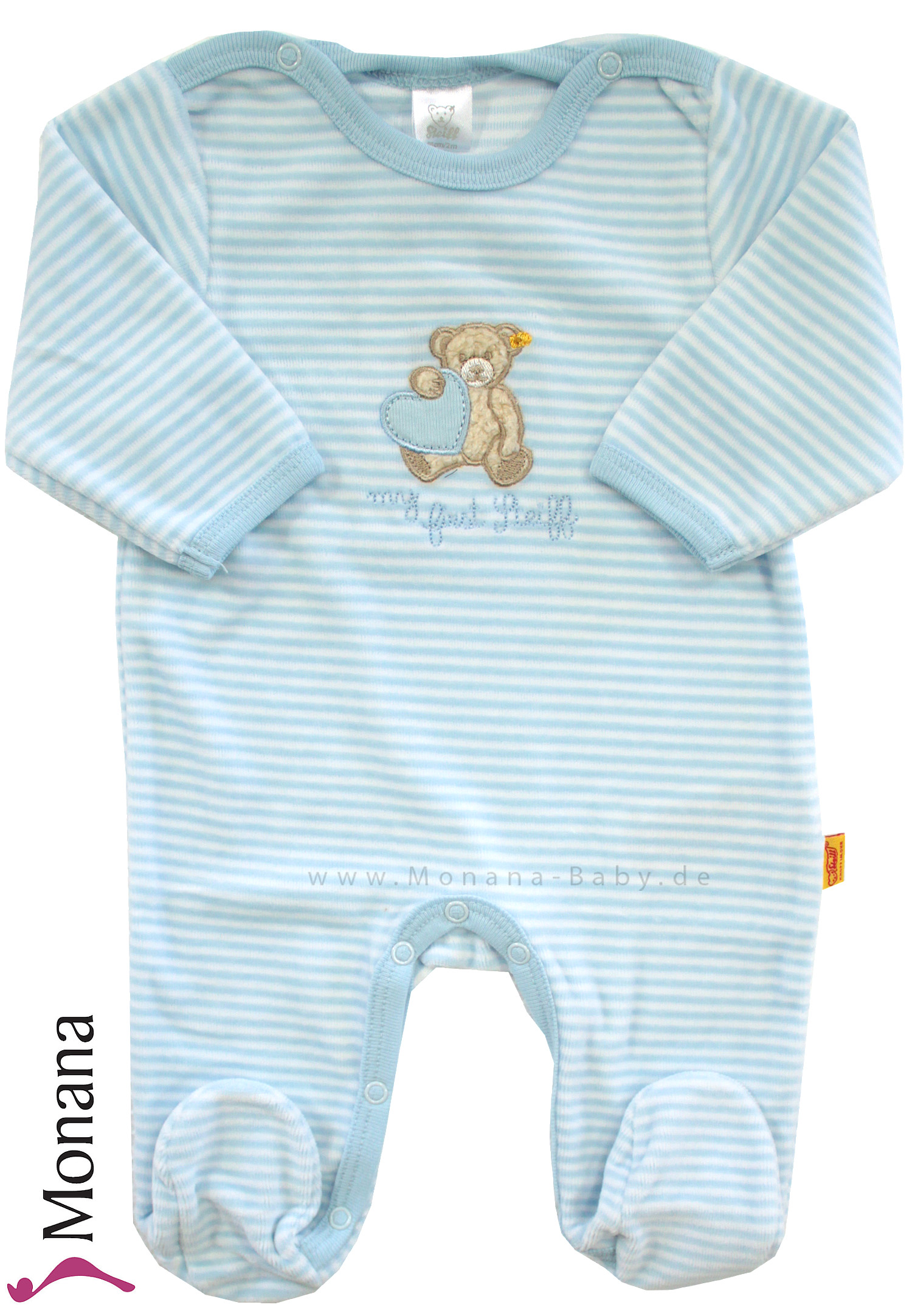 Steiff Collection Nicki-Overall my first Steiff hellblau<br>Größe: 80