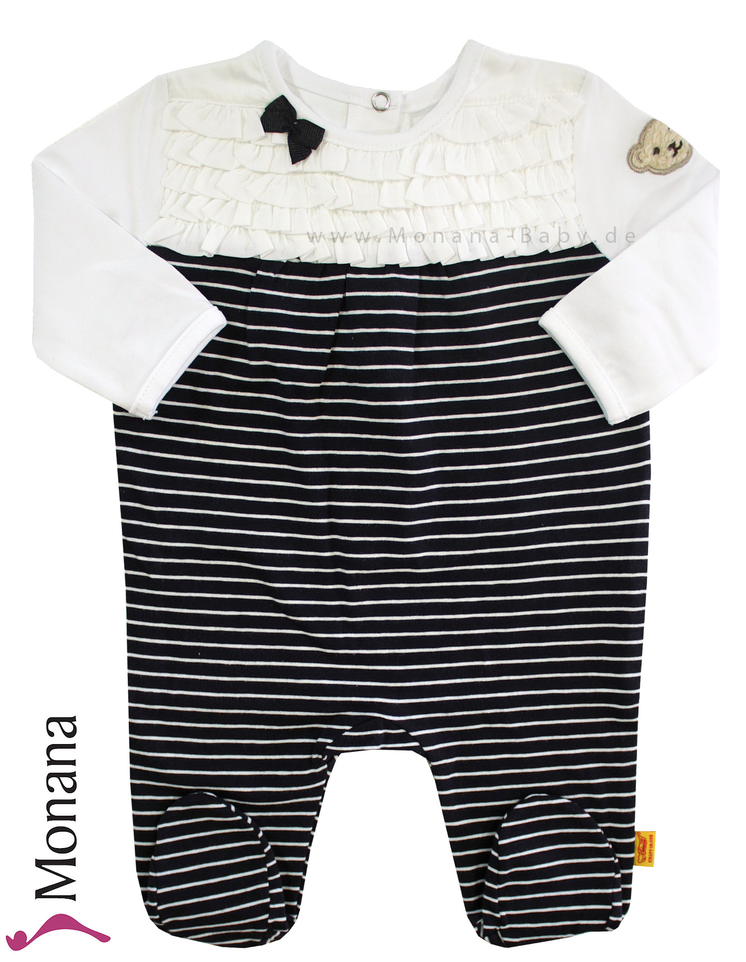 Steiff Collection Baby-Strampler Little Navy marine<br>Größe: 62