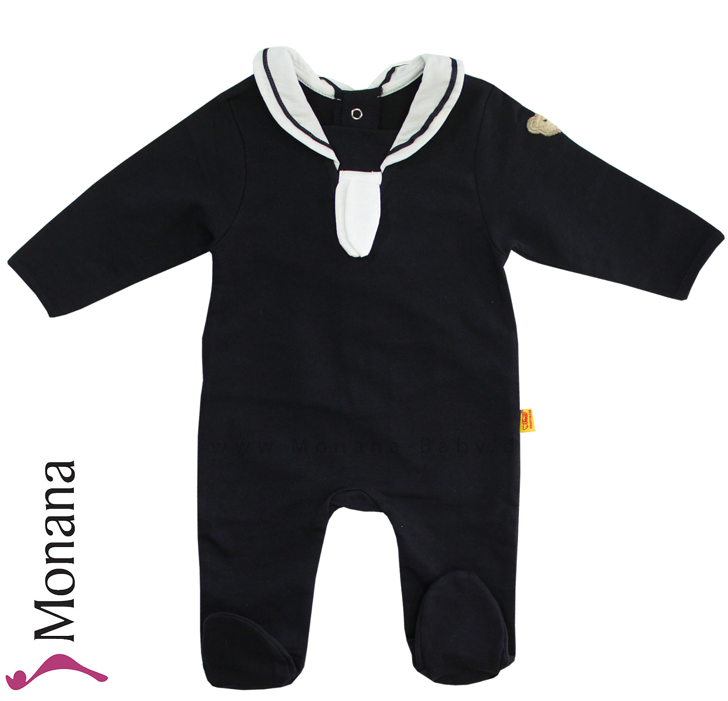 Steiff Collection Baby-Strampler marine<br>Größe: 68